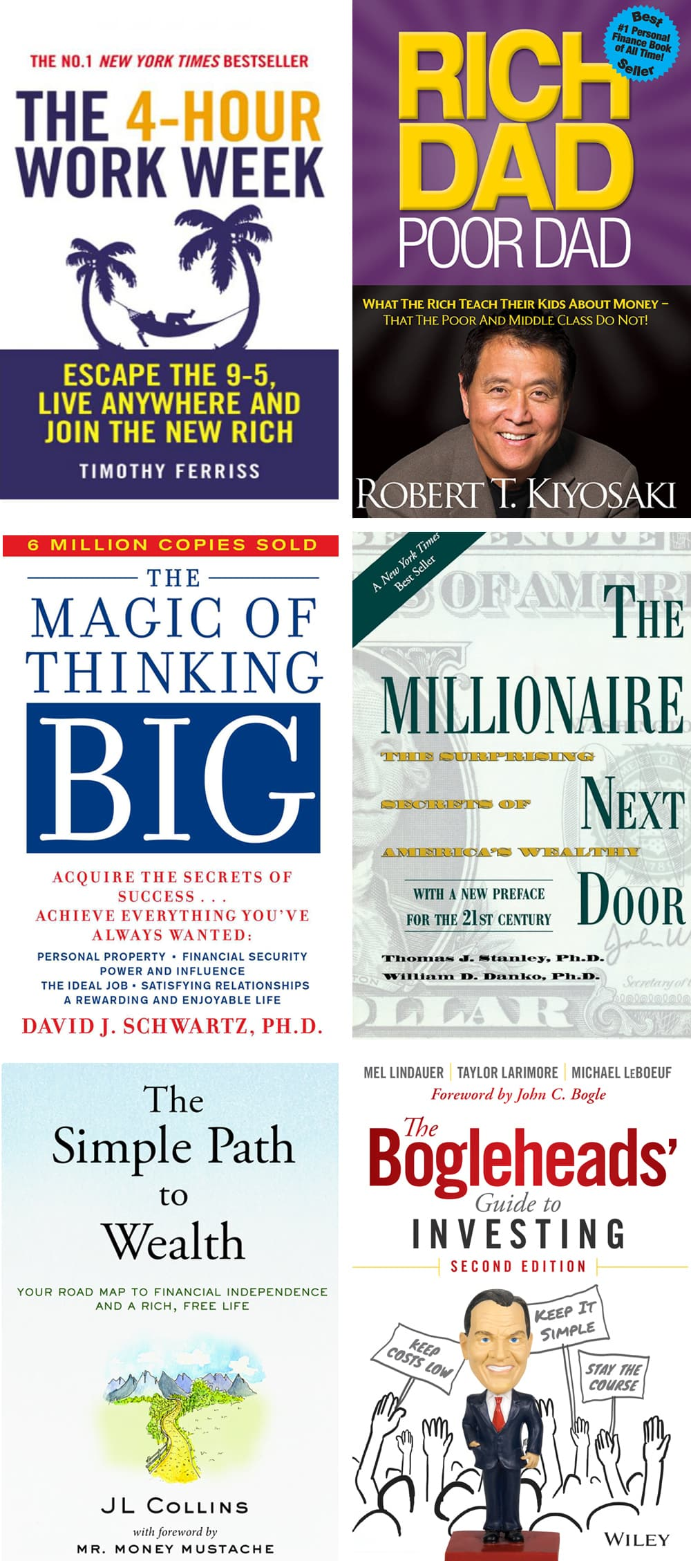 A list of books that will help you embracing happiness and following your true dreams. Inspirational and life-changing financial books to retire young.