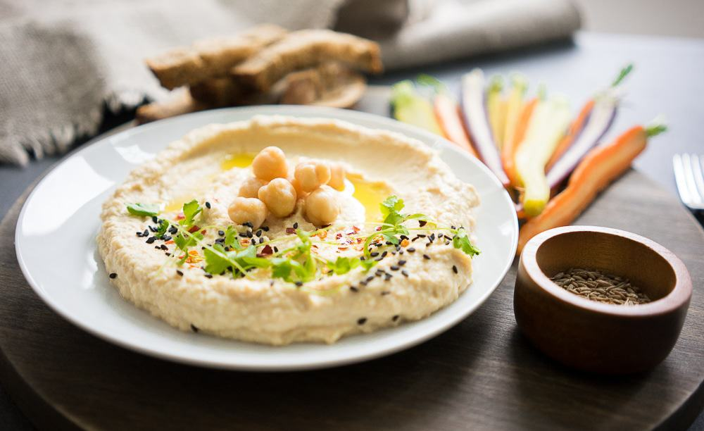 You have to try it! So much better than anything you buy in the store! This is the perfect homemade hummus recipe! Quick and delicious!