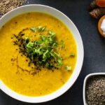 Spicy Middle Eastern Lentil Soup: top view