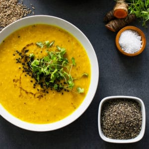Spicy and full of goodness, this is a delicious lentil soup with Middle Eastern flavours! Cooking this soup is so quick and easy, you'll love it!