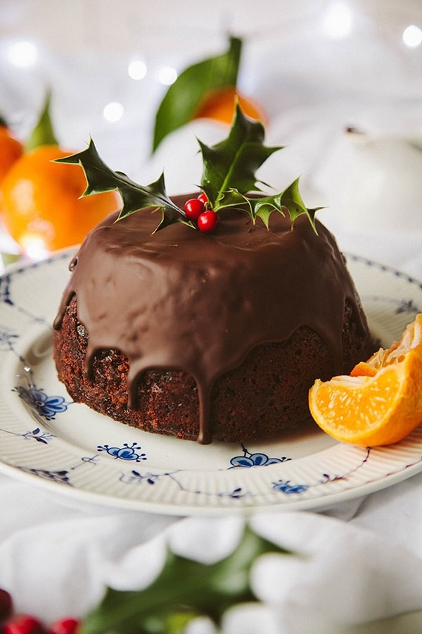 Chocolate Orange Christmas Pudding A Christmas pudding even Christmas pudding-haters will love! A non-traditional Chocolate Orange Christmas Pudding that's vegan-friendly too.