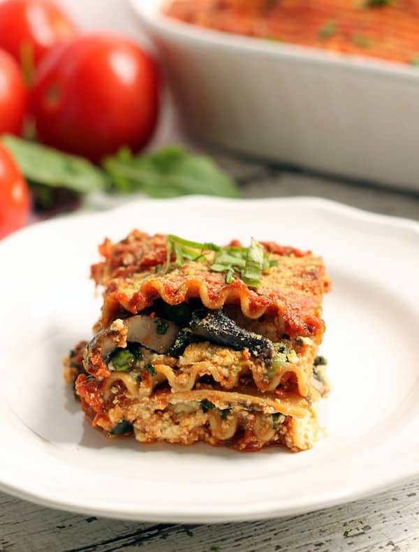 The Best Easy Vegan Lasagna Lasagna at Christmas? Yummy! This Easy Vegan Lasagna is an amazing meatless, dairy-free lasagna packed with a hummus tofu ricotta that'll please any carnivore! It's so good, you have to try it!