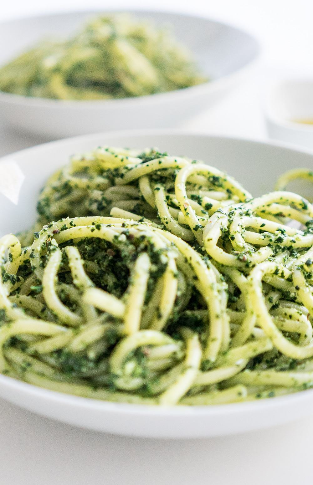 This vegan winter kale pesto recipe is so good, you will want to eat it every day. A truly sensational seasonal pesto recipe that you won't easily forget!