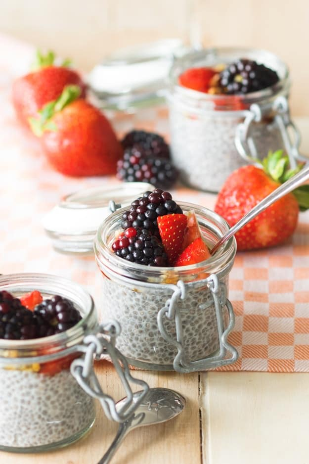 Overnight Chia Seed Pudding With Almond Milk: Healthy Meal Prep Ideas Ready in 30 minutes or less
