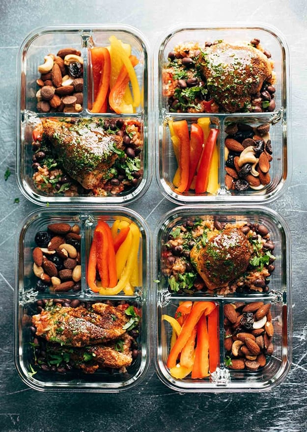 Spicy Chicken Meal Prep With Rice And Beans: Healthy Meal Prep Ideas Ready in 30 minutes or less