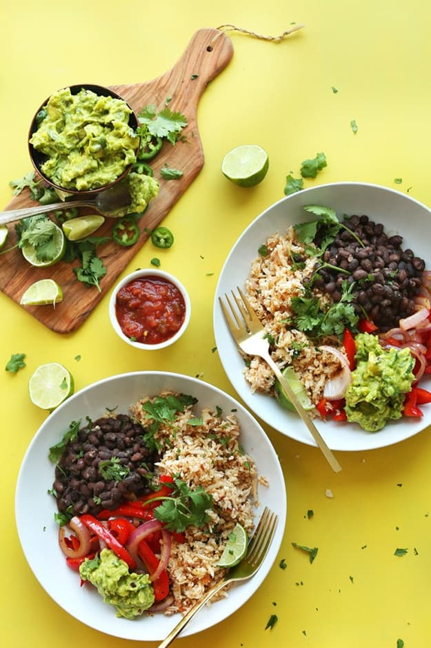 Cauliflower Rice Burrito Bowl: Healthy Meal Prep Ideas Ready in 30 minutes or less