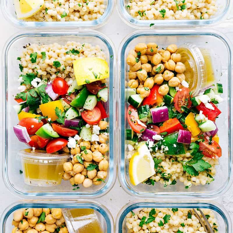 Chickpea salad healthy meal prep