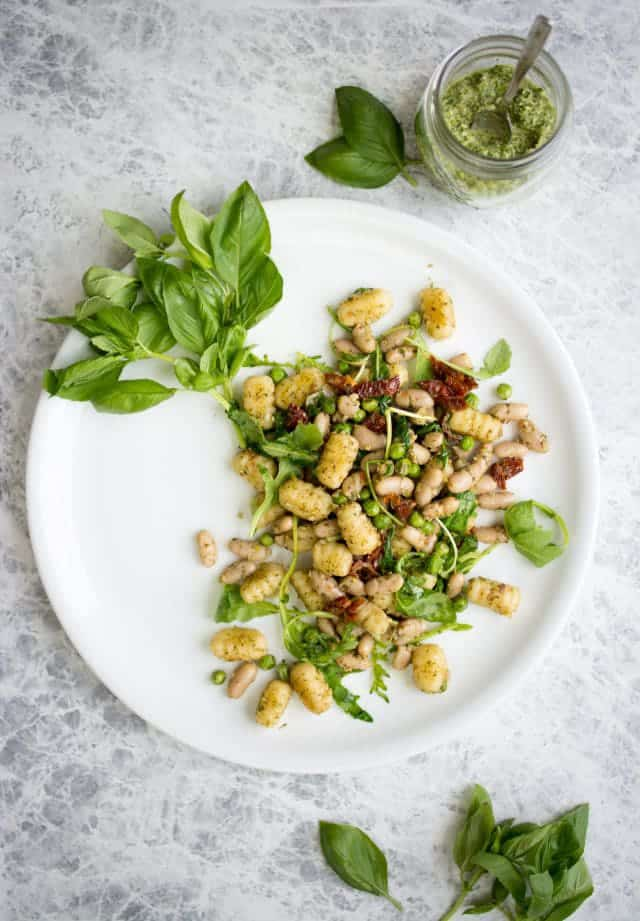 Vegan Gnocchi with Arugula Pesto | Over 30 eggcellent vegan Easter recipes that are guaranteed to impress! The best vegan breakfast, brunch, lunch and dinner ideas to impress your family! Plus some delicious dessert recipes to make your Easter special.