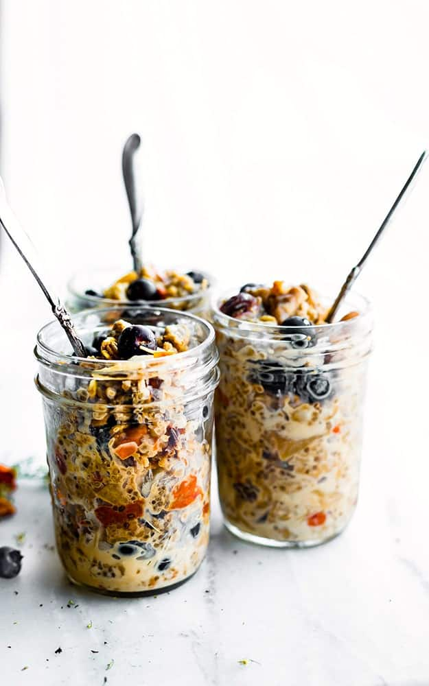 Superfood Instant Pot Oatmeal in a Jar: Healthy Meal Prep Ideas Ready in 30 minutes or less