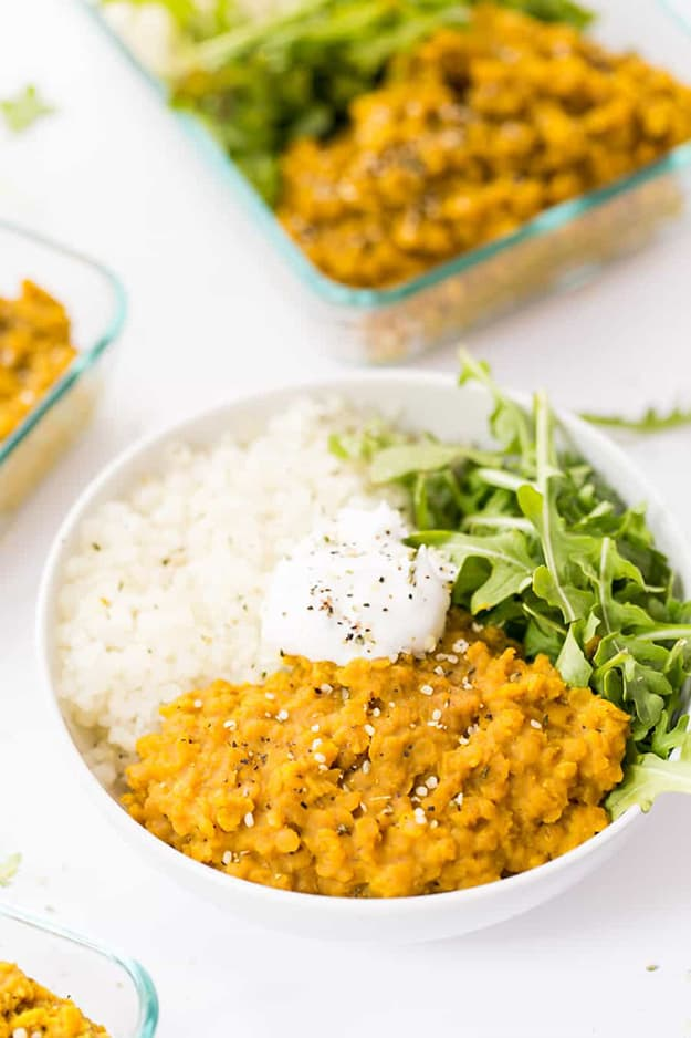 Easy Vegan Red Lentil Dal: Meal Prep Ideas Ready in 30 minutes or less