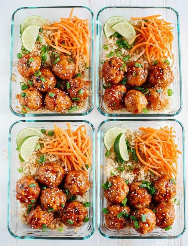 Honey Sriracha Glazed Meatballs: Healthy Meal Prep Ideas Ready in 30 minutes or less