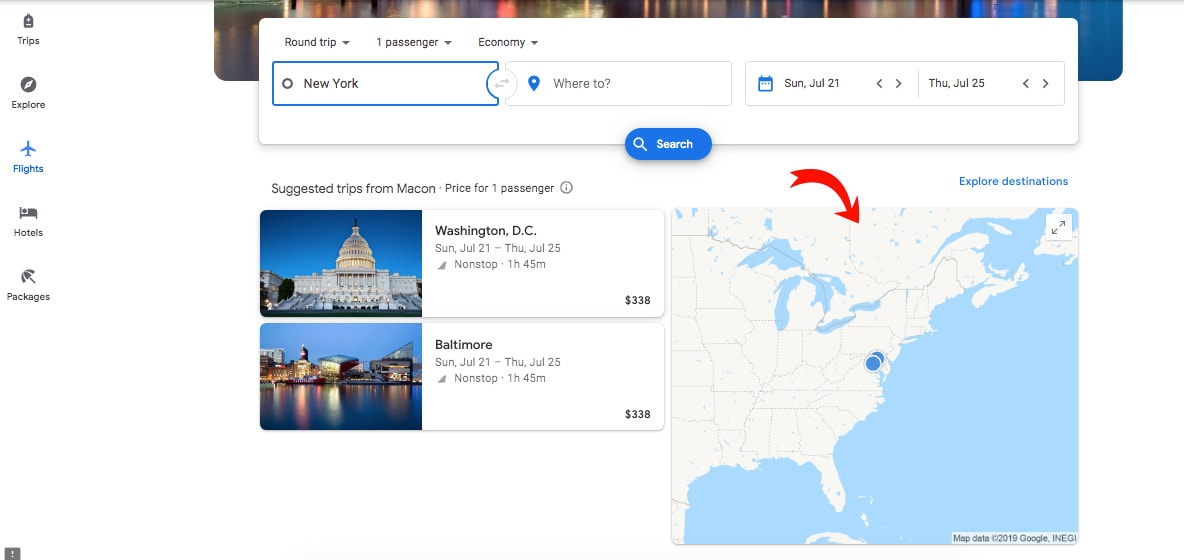 Google flights map: a great way to help you to get cheap flights