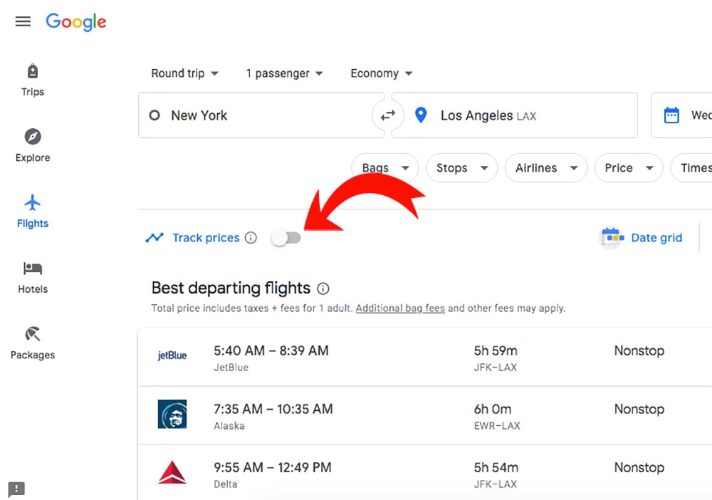 How to find cheap flights by tracking Google Flights prices