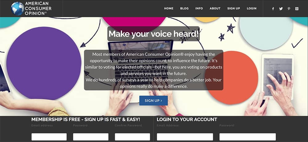 Happy to give your views on hair products or politics? If so, it's possible to earn up to $150 an hour, without any special skill with online focus groups. American Consumer Opinion.
