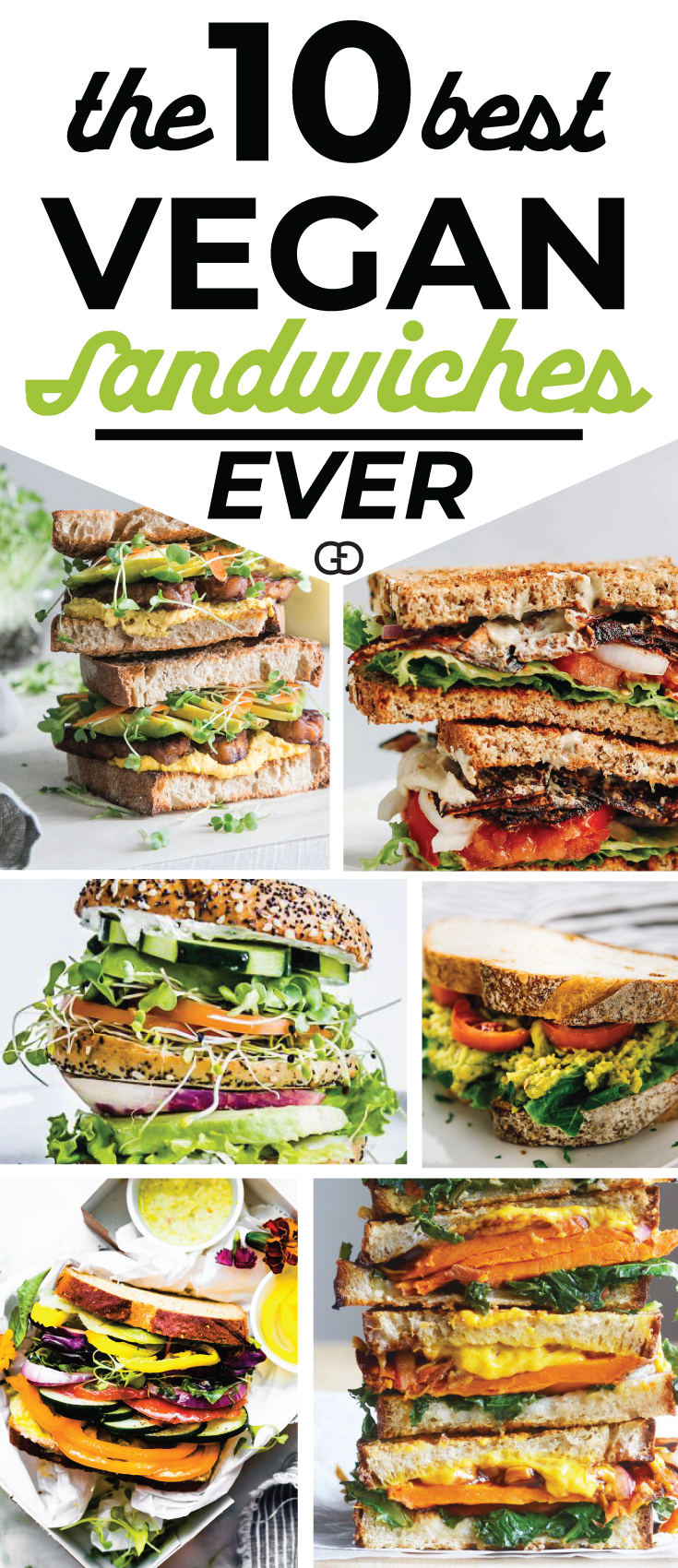 Best vegan sandwich ideas EVER! Healthy, delicious, and easy to make! Yummy! Meat eaters will love these too! #mealprep #vegan #lunchideas #lunchboxideas #vegetarian #sandwichrecipe #healthyrecipes