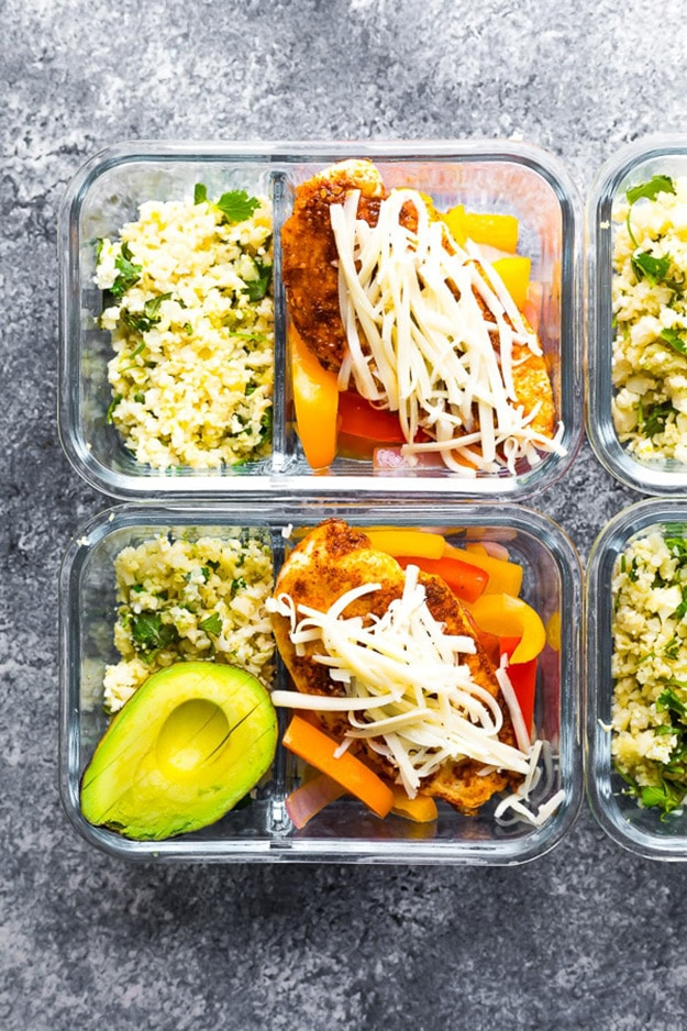Santa Fe Low Carb Chicken Meal Prep @ Sweat Peas and Saffron: Meal prep recipes: these are the perfect healthy meal prep ideas to prep on Sunday in less than 30 minutes!