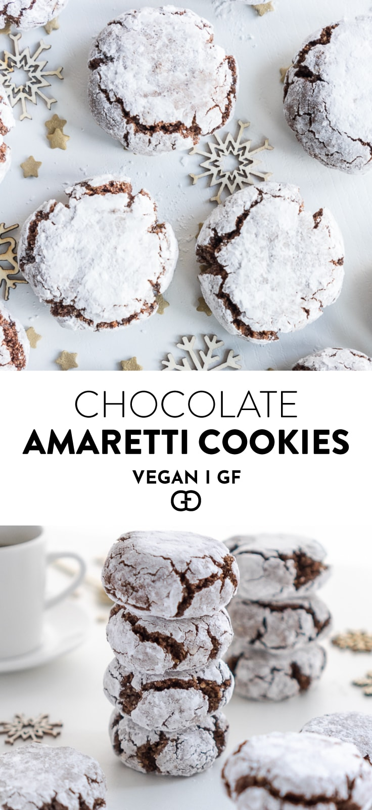 Vegan Chocolate Amaretti Cookies Gathering Dreams
