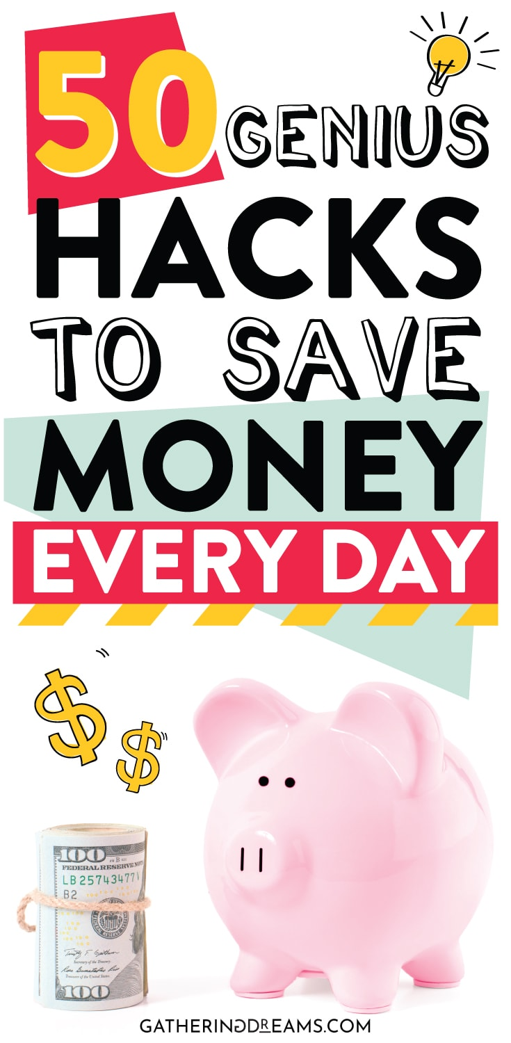 Looking for genius money hacks to save extra cash? Check my amazing money saving tips and tricks! #moneysavingtips #savings #savingtips