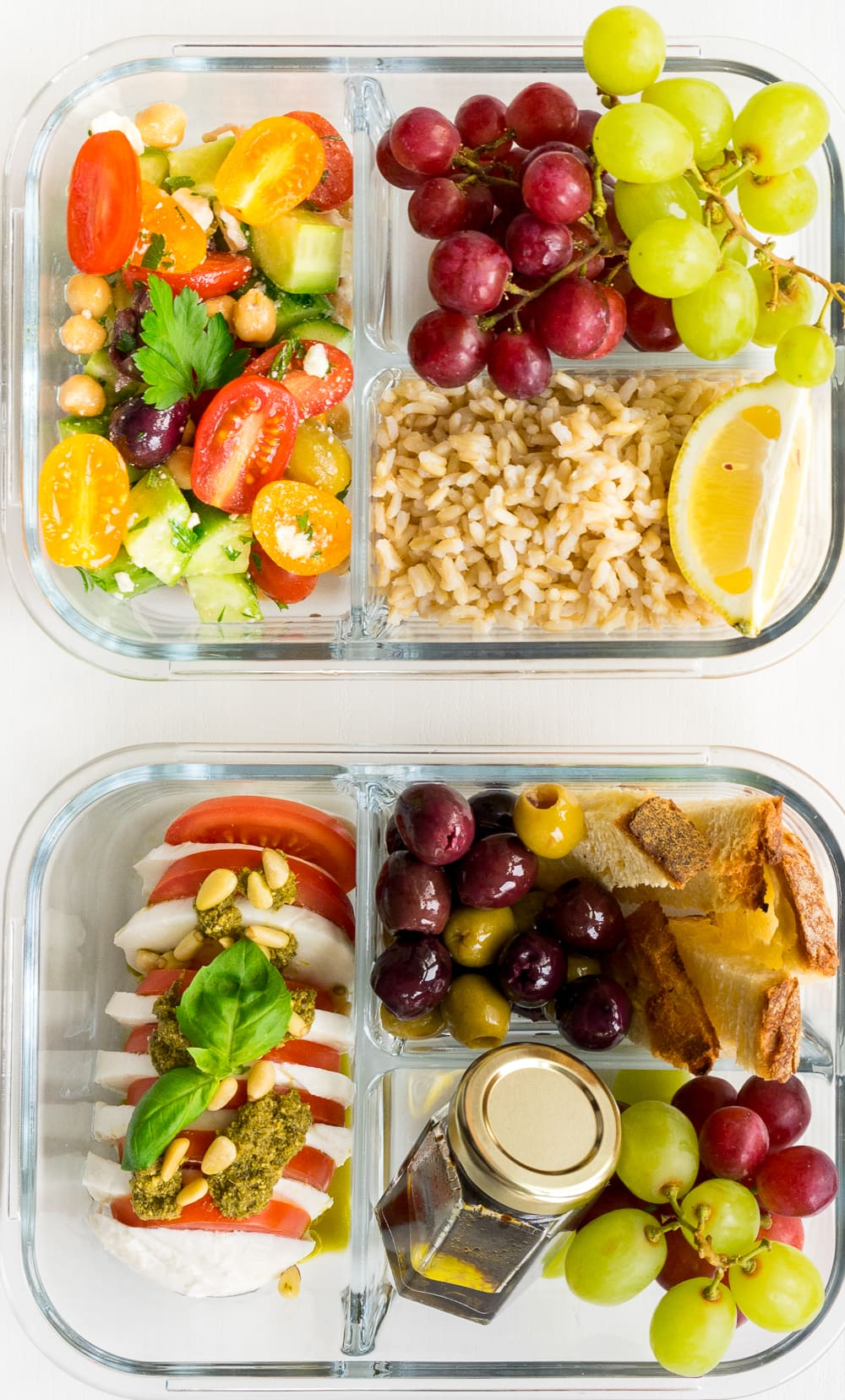 2 lunch box ideas: Who says bringing lunch from home needs to be boring? These 2 awesome lunch box ideas for adults are perfect for work and are ready in less than 30 minutes!