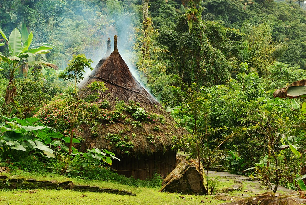 Small Hut in Northern Colombia: one of the cheapest places to visit in South America