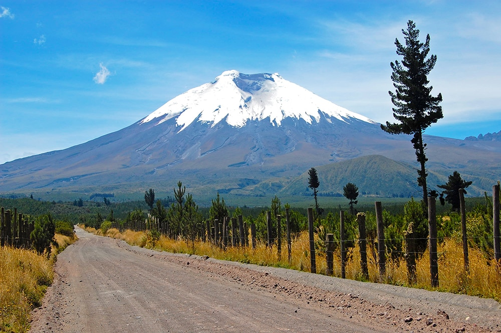 Cotopaxi volcano, Ecuador: one of the cheapest countries to visit in South America