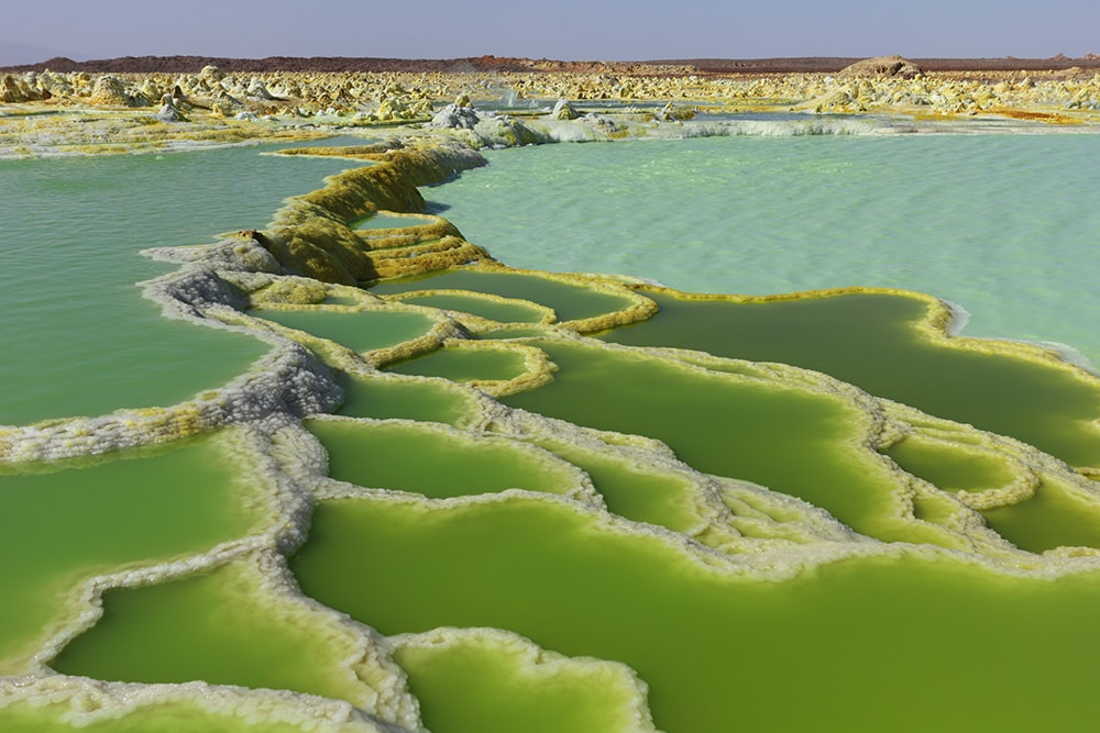 Dallol Volcano, Ethiopia: one of the cheapest countries to visit in Africa