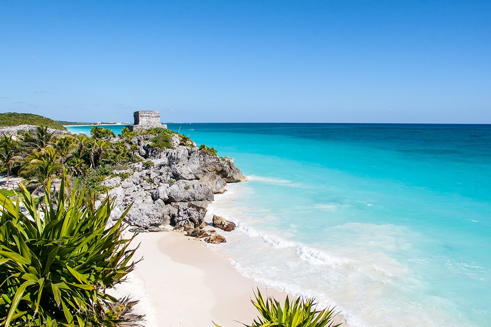 Tulum beach, Mexico: one of the cheapest countries to visit