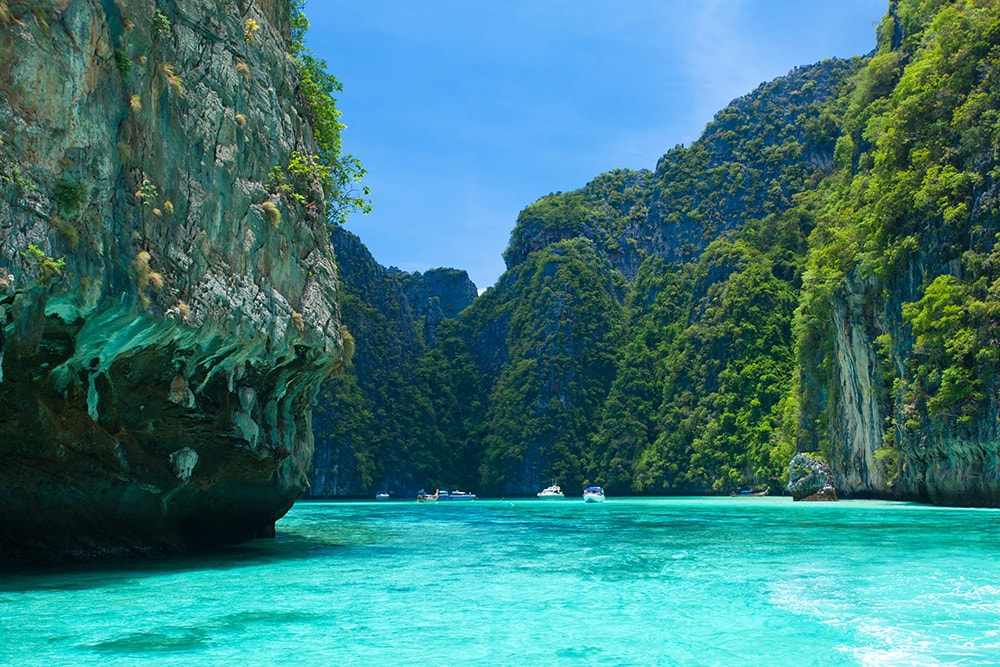 Maya Bay, Phi Phi Leh, Thailand: one of the cheapest countries to visit on a budget