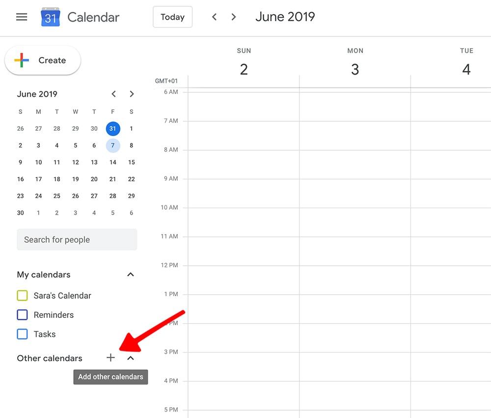 Meal planner template: add new calendar