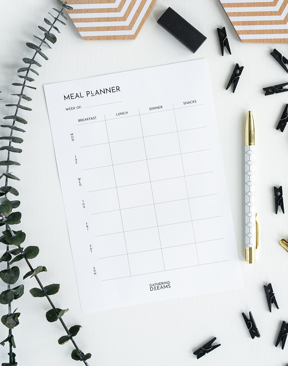 Minimalist Meal Planner Template - Free