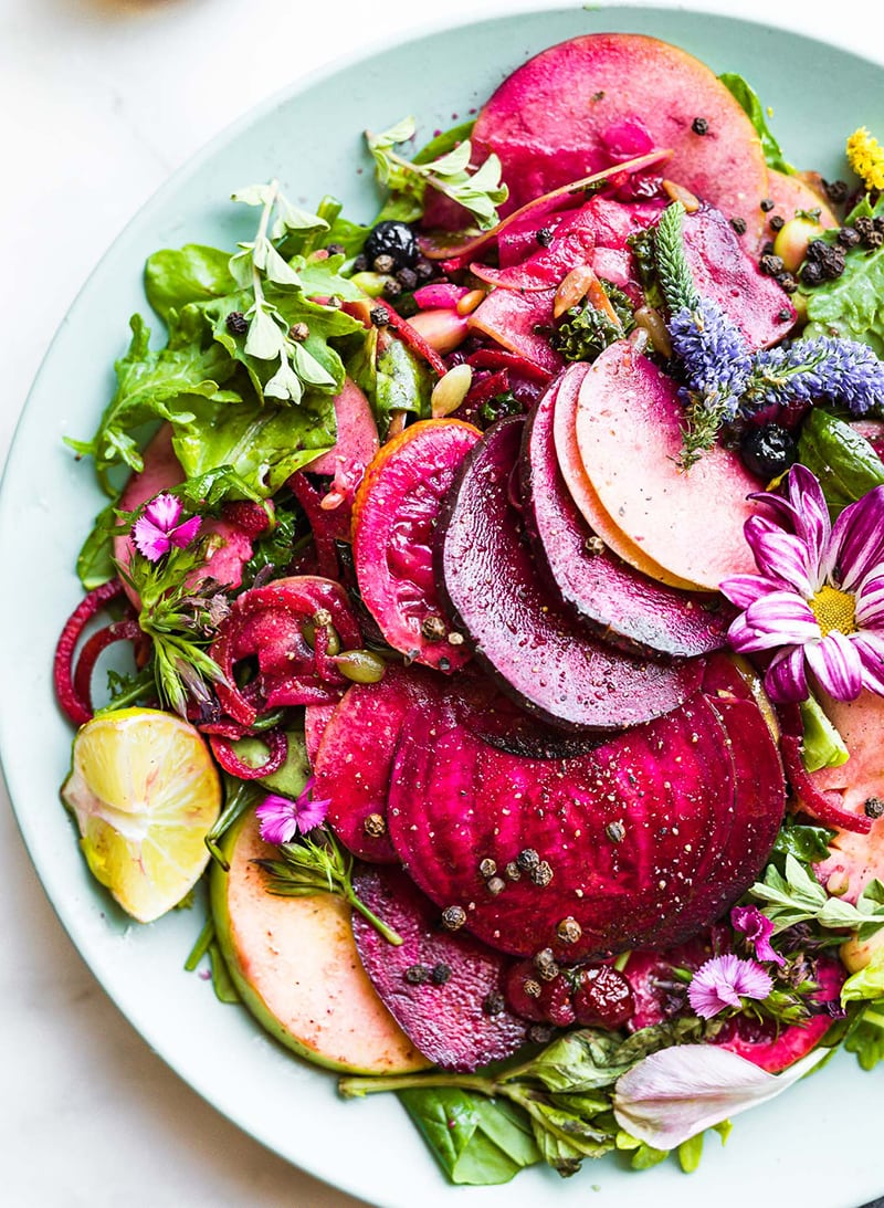 Zingy Marinated Beet and Apple Salad from Cotter Crunch: a vibrant fall salad recipe