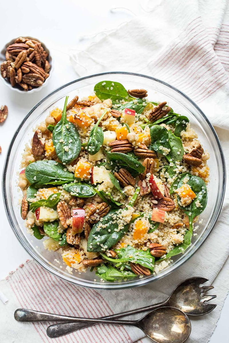 Fall Quinoa Salad with Butternut Squash and Apples from Simply Quinoa: the perfect fall salad