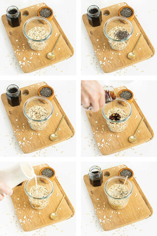 Base recipe: step-by-step process to make overnight oats