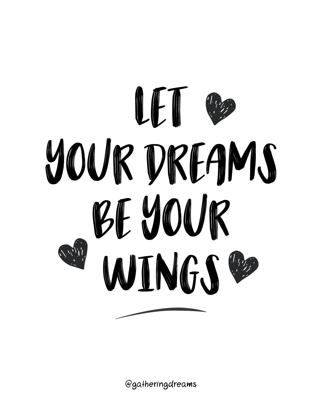 """Let your dreams be your wings."" Anonymus - The best dream quotes, inspirational quotes and motivational quotes of all times"