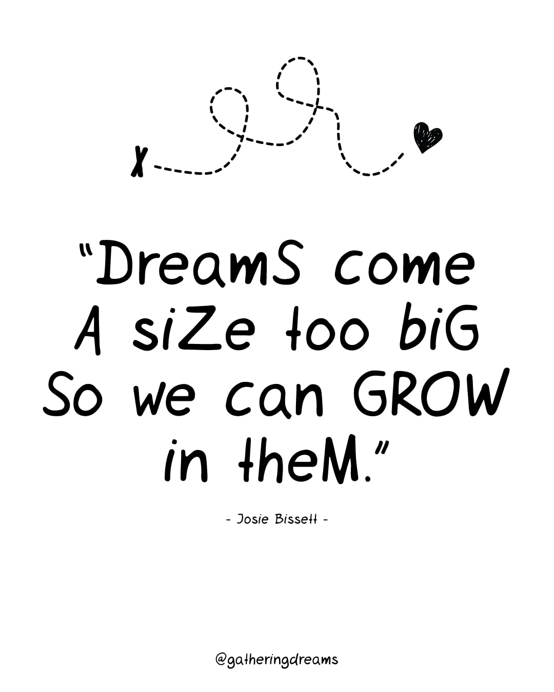 """Dreams come a size too big so we can grow in them."" Josie Bissett - The best dreams quotes of all times #inspiration #inspirationalquotes #motivationalquotes #dreams"