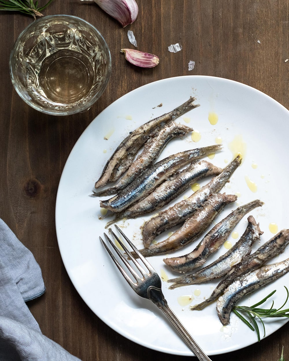 Restaurants in Cinque Terre: a plate of anchovies