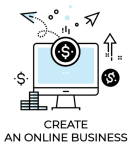 Passive income icon: create an online business