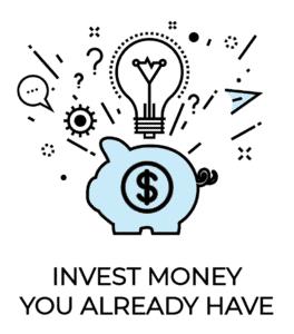 Passive income icon: invest money you already have