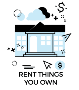 Passive income icon: rent things out
