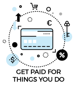 Passive income icon: get paid for things you already do