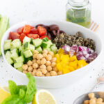 A quinoa salad: one of the 50 easy summer dinner recipes in my favorite list of summer recipes!