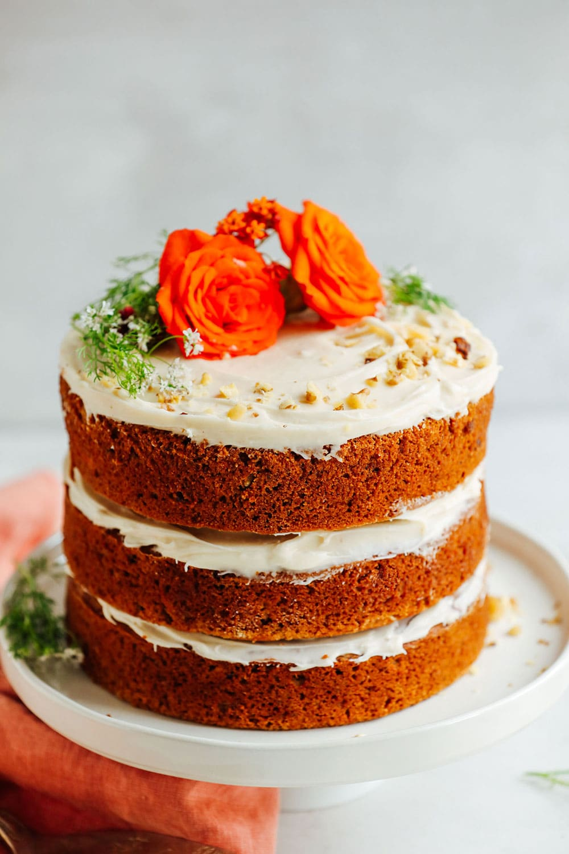 1-Bowl Vegan Gluten-Free Carrot Cake by Minimalist Baker