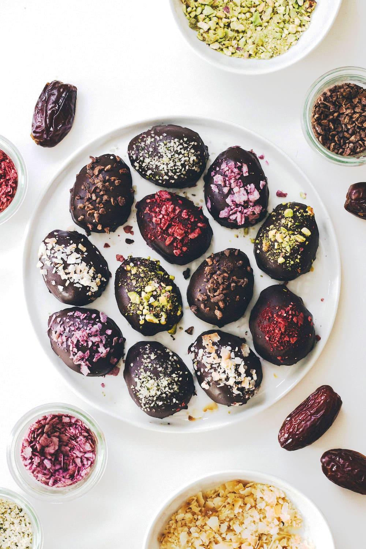 Medjool Date Peanut Butter Eggs by Feasting on Fruit