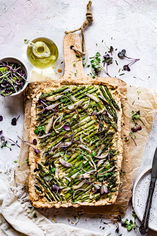 Asparagus Shallot Tart By Healthy Little Vittles
