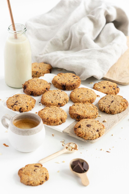 Breakfast cookies on a cutting board