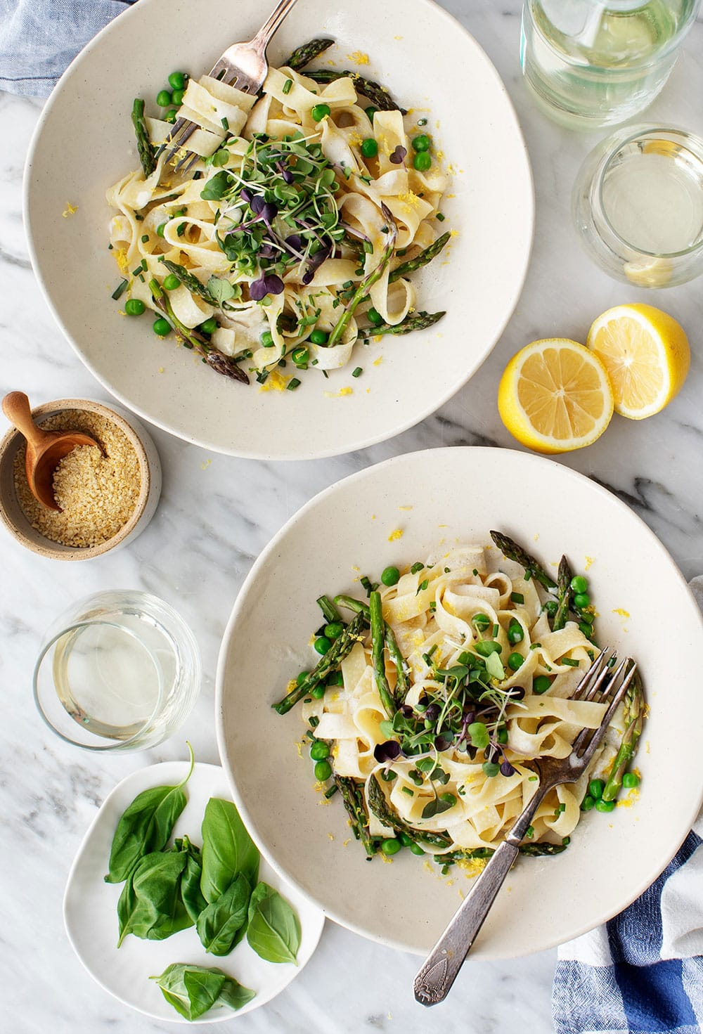 Tagliatelle With Asparagus And Peas by Love And Lemons