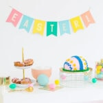 View of an Easter table full of Vegan Easter recipes