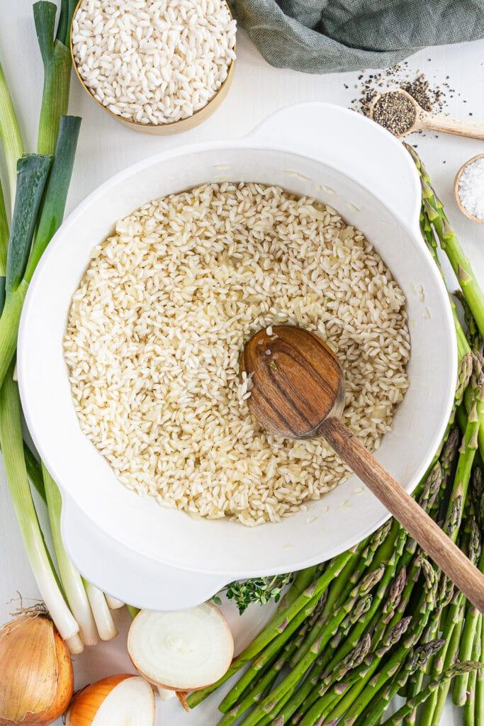 Rice toasting